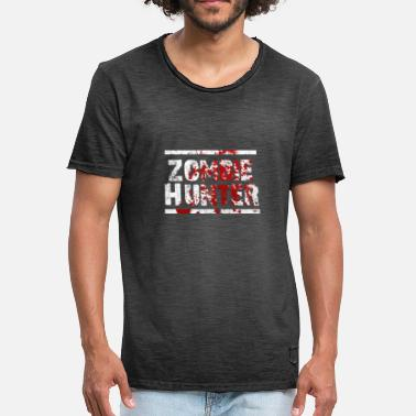 Zombie Jager Zombie jager - Mannen Vintage T-shirt