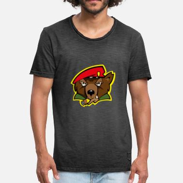 Grizzly Grizzly - Vintage-T-shirt herr