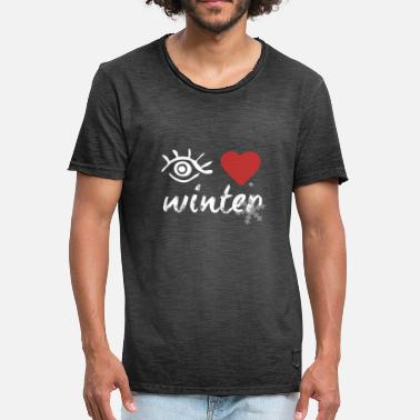 I Love Winter Eye Love 'Winter' - Miesten vintage t-paita