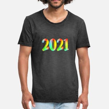 2021 2021 colorful - Men's Vintage T-Shirt