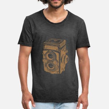 Collection Vintage Rolleiflex brown - Men's Vintage T-Shirt