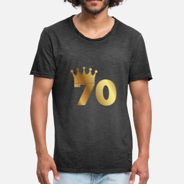 Crown Birthday 70th birthday: 70 with crown - Men's Vintage T-Shirt