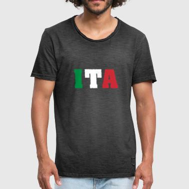 Country Abbreviation Italy ITA flag - Men's Vintage T-Shirt