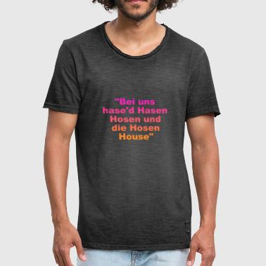 The rabbits are called Trousers and the Trousers House - Men's Vintage T-Shirt