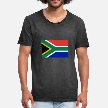 2000px Flag of South Africa svg - Men's Vintage T-Shirt