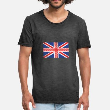 Motorbike Jokes UK Flag Motorbike Gift - Men's Vintage T-Shirt