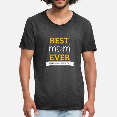Best Boarder Best Mom Ever - Miesten vintage t-paita