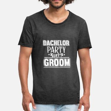 Groom Team Groom - Vintage-T-skjorte for menn