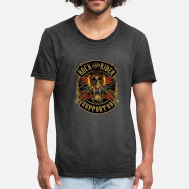 rock and rider support 99 - Camiseta vintage hombre
