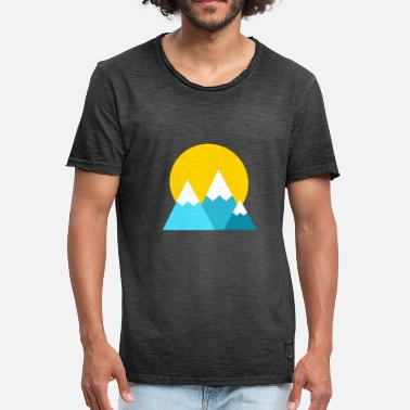 Hike Sun Mountains and sun - nature and hiking - Men's Vintage T-Shirt