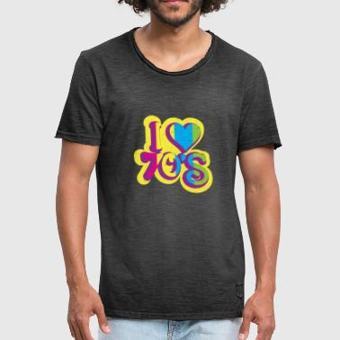 Color Splash Festival I LOVE 70s I Neon Colors Splash - Men's Vintage T-Shirt