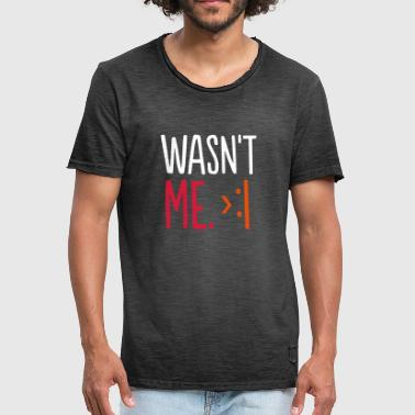 WAT NIET ME - SIMPLE - Mannen Vintage T-shirt