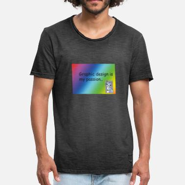 Grafisk Design Grafisk design - Vintage T-shirt herr 34d04dcaa0381