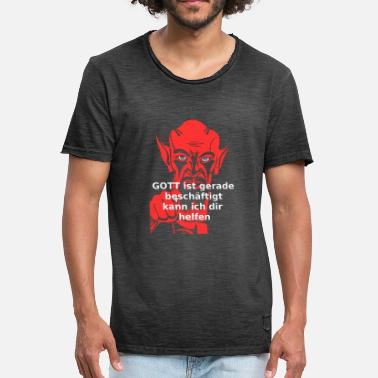 Beelzebub Devil God normal - regalo - Camiseta vintage hombre