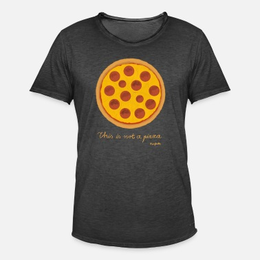 Magritte This is not a pizza - Men's Vintage T-Shirt