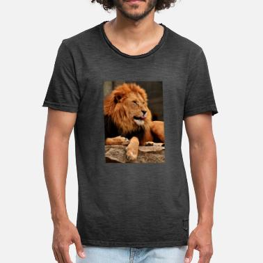 Tirer La Langue Le lion colle la langue - T-shirt vintage Homme