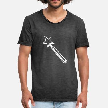 Witchcraft Spell Wand Magic Wand enchant witchcraft witchcraft - Men's Vintage T-Shirt
