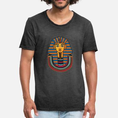 Pharaoh Nile Egypt pharaoh headdress Egyptian art on the Nile - Men's Vintage T-Shirt