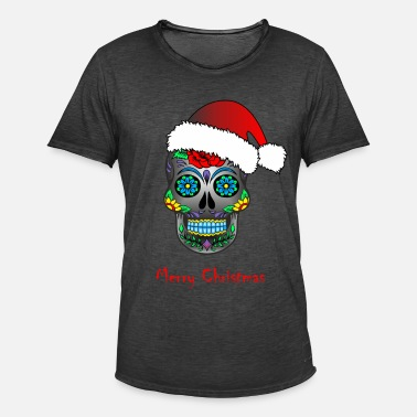 Mexican Death Mask Mexican death mask Merry Christmas - Men's Vintage T-Shirt