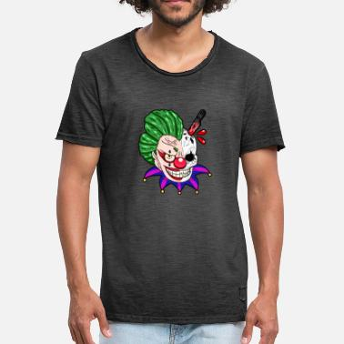 Scary Clowns Scary clown awesome clown - Men's Vintage T-Shirt