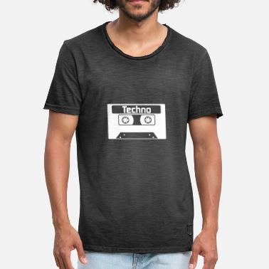 Old School Rave Techno - Symbol - Tape - Techno music - Men's Vintage T-Shirt