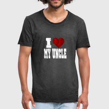 I Love My Uncle i love my uncle spruch heart love love - Men's Vintage T-Shirt