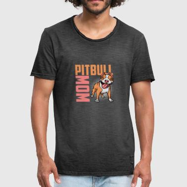 Best Pitbull Mom T-shirt - Männer Vintage T-Shirt