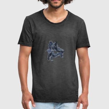 Hippocampus monster brightly glowing - Men's Vintage T-Shirt