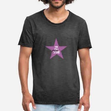 Scribble Party NEW STAR - Men's Vintage T-Shirt