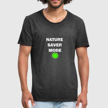 Nature saver mode on - Männer Vintage T-Shirt