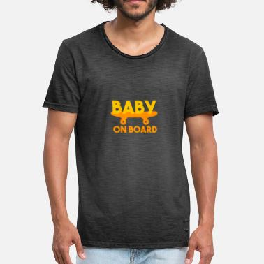 Baby On Board Pregnant Baby On Board 4000x4000 - Männer Vintage T-Shirt