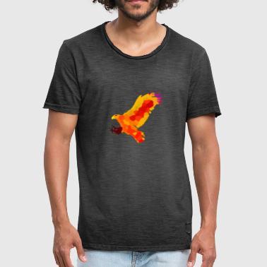 Burning Burning Bird - Mannen Vintage T-shirt