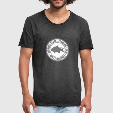 Sportauto circle round stamp fishing team sport logo caught - Men's Vintage T-Shirt