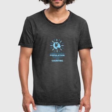 Population Journée mondiale de la population 2018 World Globe Population - T-shirt vintage Homme