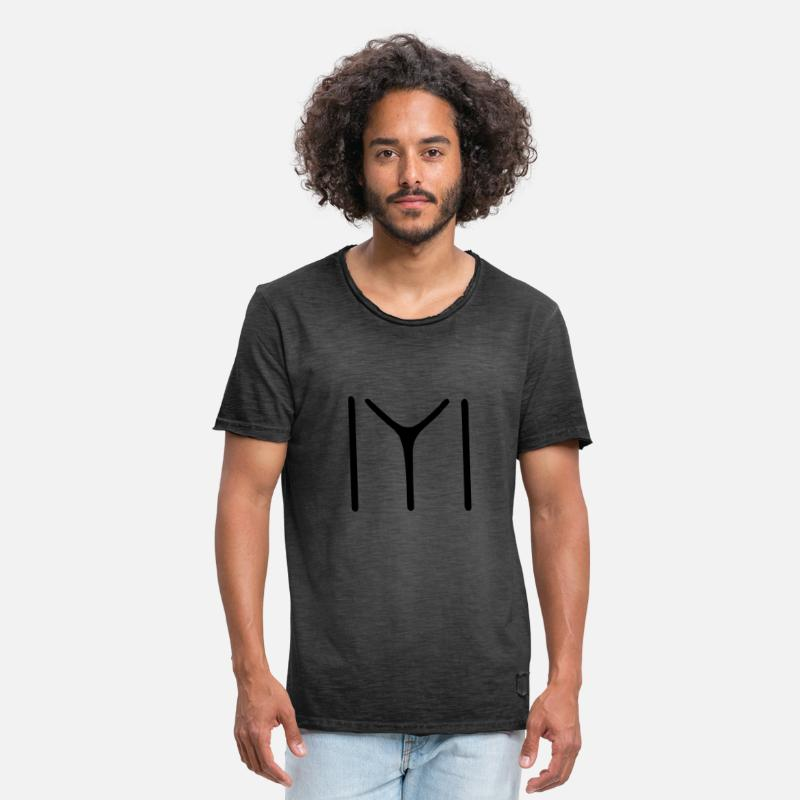 Kayi T-Shirts - Kayi Obasi - Men's Vintage T-Shirt washed black