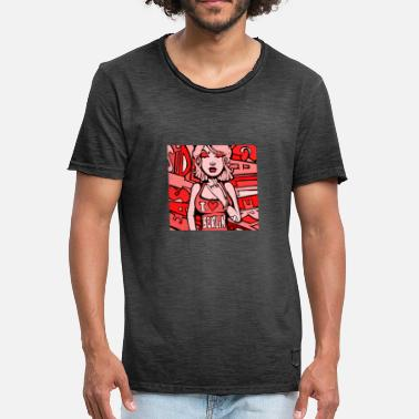 Nu Rave I love Berlin - red - T-shirt vintage Homme