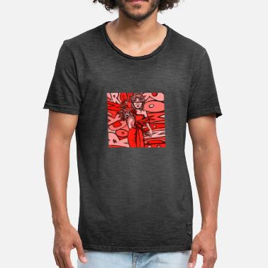 Finesser Rock'n'roll Romance - Red - Men's Vintage T-Shirt