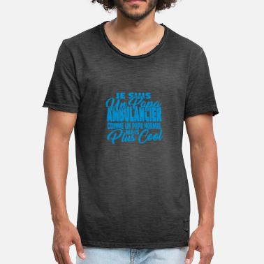 Papa Ambulancier Papa ambulancier mais plus cool - T-shirt vintage Homme