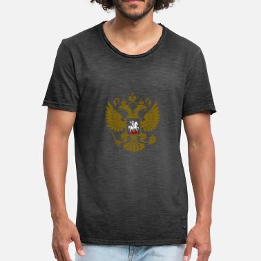 Armoiries Armoiries russes - T-shirt vintage Homme