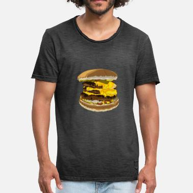 Cheeseburger Triple cheeseburger - Men's Vintage T-Shirt