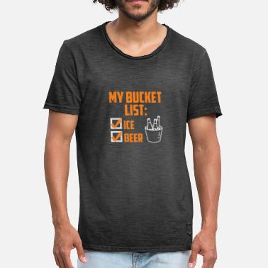 Bucket Funny My Bucket List Beer T-shirt - Men's Vintage T-Shirt
