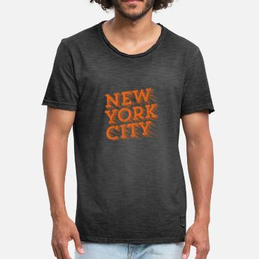 Typografie New York City Géniale - Mannen vintage T-shirt