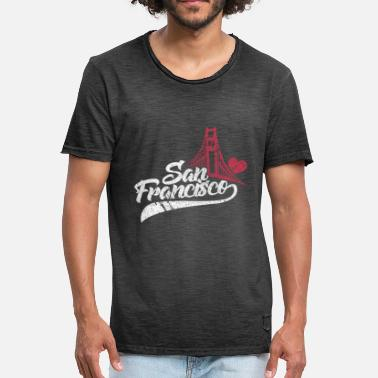 Francisco San Francisco Golden Gate Bridge-cadeau - Mannen Vintage T-shirt