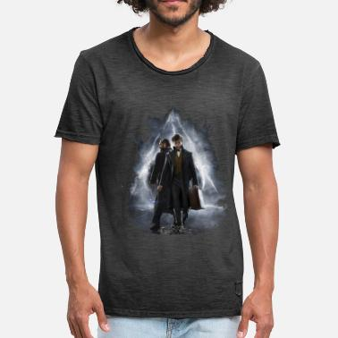 Fantastic Beasts Scamander and Dumbledore - Mannen Vintage T-shirt