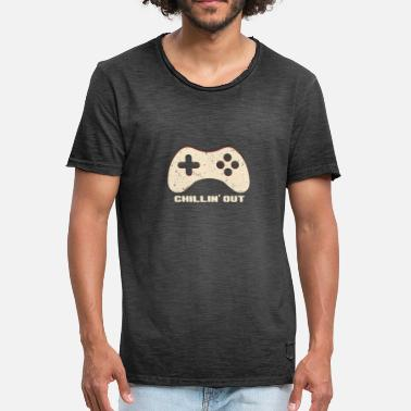 Chilling Chilling Out Gamepad - Mannen Vintage T-shirt