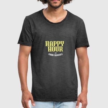 Happy hour - Mannen Vintage T-shirt