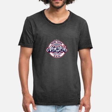 New York City New York City New York - Vintage T-skjorte for menn
