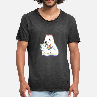 Bear Gay LGBT Gay Gay Papa Bear - Men's Vintage T-Shirt