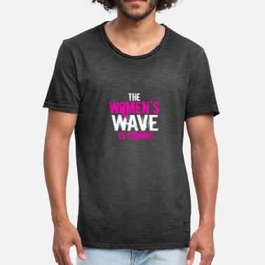 Januar Washington March tee Women's Wave 01-19-19 T-skjorte - Vintage-T-skjorte for menn