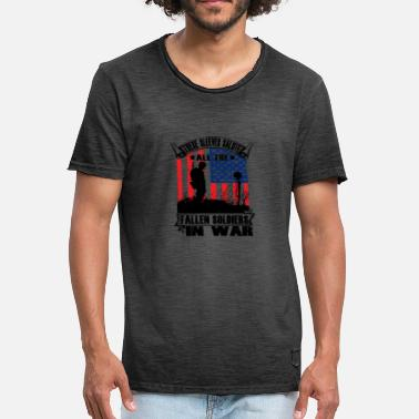 Soldier Soldier Tattooed Tattoos American Patriot War - Men's Vintage T-Shirt
